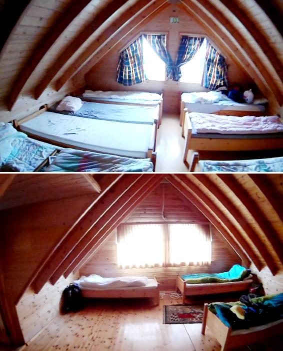 Для тех, кто планирует задержаться на длительное время, обустроено 2 общих спальни (о. Эдлидаэй, Исландия). | Фото: youtube.com/ © Bjarni Sigurdsson.