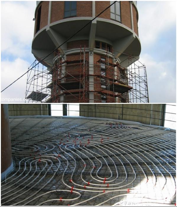 Несмотря на то, что водонапорная башня хорошо сохранилась, требовалась реставрация фасада и проведение отопления. | Фото: youtube.com/ © Kirsten Dirksen.