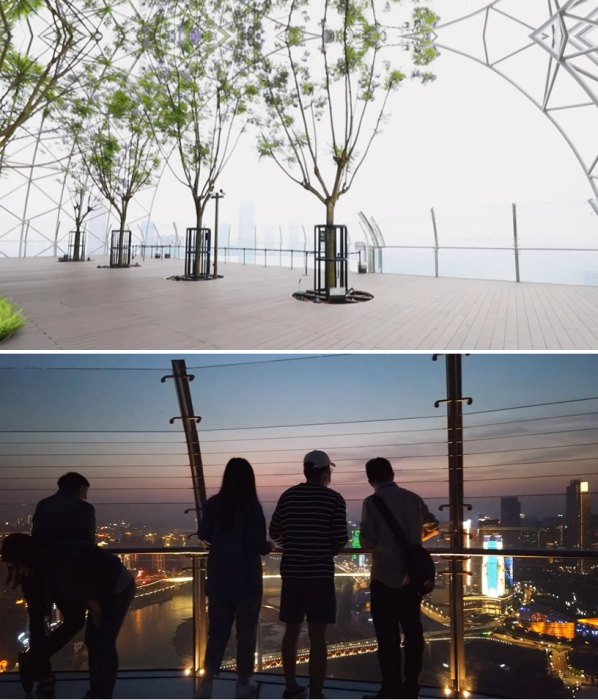 Со смотровой площадки открывается умопомрачительный вид в любое время суток («Crystal», Китай). | Фото: youtube.com/ © CapitaLand.