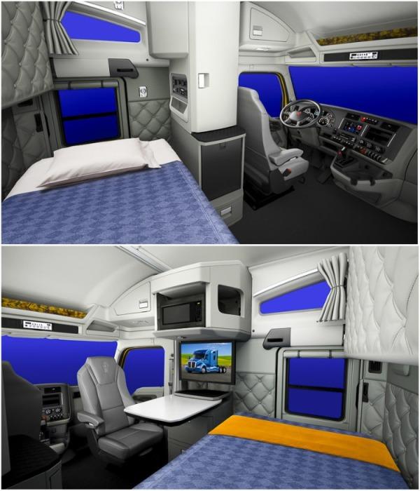 Даже в самых маленьких кабинах можно обустроить комфортную зону сна и отдыха. | Фото: autorambler.ru.