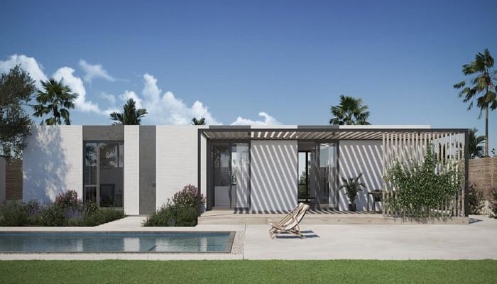 Для нового квартала компания Mighty Buildings разработала модель дома под названием The Mighty Cinco. | Фото: newatlas.com.