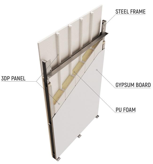 Структура готовой панели из специально разработанного бетона для 3-D принтеров. | Фото: newatlas.com.