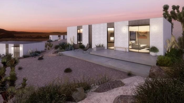 Энергонезависимые и экологически чистые дома будут продаваться с техникой и мебелью (концепт модели The Mighty Cinco). | Фото: theguardian.com.