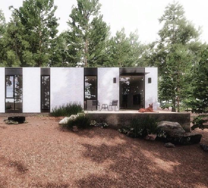 Основной дом на участке будет иметь площадь 134 кв. м (концепт модели The Mighty Cinco). | Фото: mightybuildings.com.
