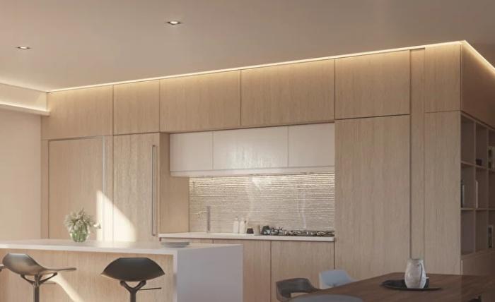 Так может выглядеть полностью укомплектованная кухня-столовая в новом доме от компании Mighty Buildings (концепт модели The Mighty Cinco). | Фото: mightybuildings.com.