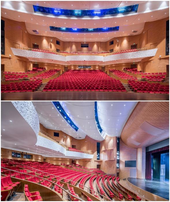 Главный зрительный зал и сцена Linxia Grand Theater (Китай).