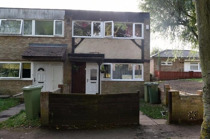 Дом, в котором семья мигрантов живет на данный момент.