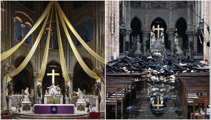 Вот во что превратился главный зал Notre-Dame de Paris.