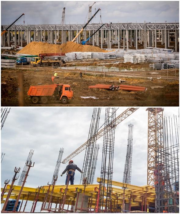 Строительство «Комбината Инновационных Технологий — МонАрх» идет полным ходом (Новая Москва, ТиНАО).