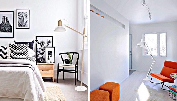 Такие торшеры идеально подойдут для маленькой комнаты. | Фото: e27.com.ua.