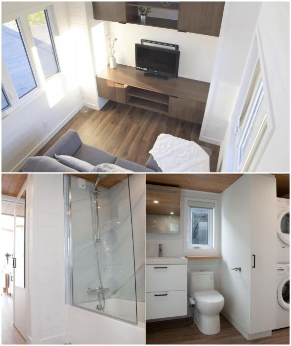 Современные удобства и использование инновационных материалов делают домик пригодным для круглогодичного проживания (Magnolia V5, Канада).