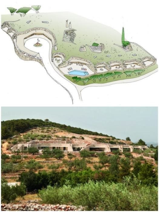 Бутик-отель Villa Nai 3.3 искусно вписали в окружающий ландшафт (Хорватия).