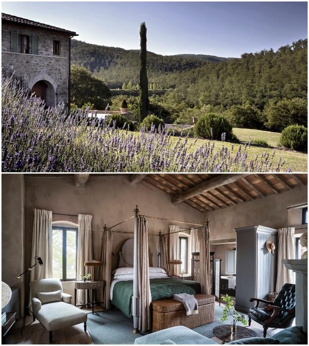 Аренда фермерского дома обойдется в 11,5 тыс. дол. (Castello Di Reschio, Италия).