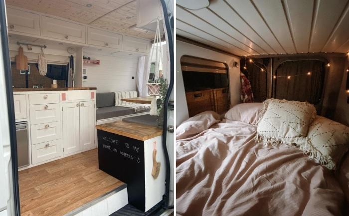 Зона гостиной легко превращается в уютную спальню.