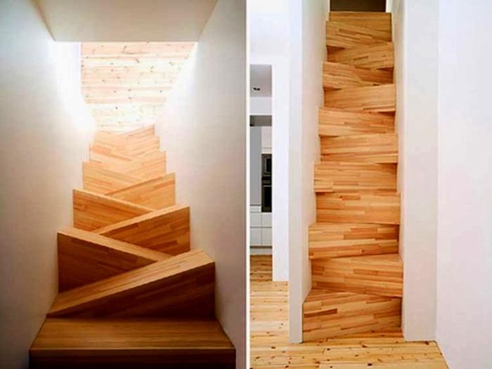 Такая лестница хоть и не отпугнет темные силы, но большинство гостей отвадит.