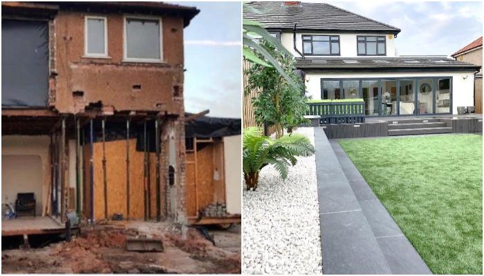 Понадобилось два года упорного труда, чтобы новички в ремонтных делах смогли кардинально обновить дом (Ливерпуль, Великобритания).