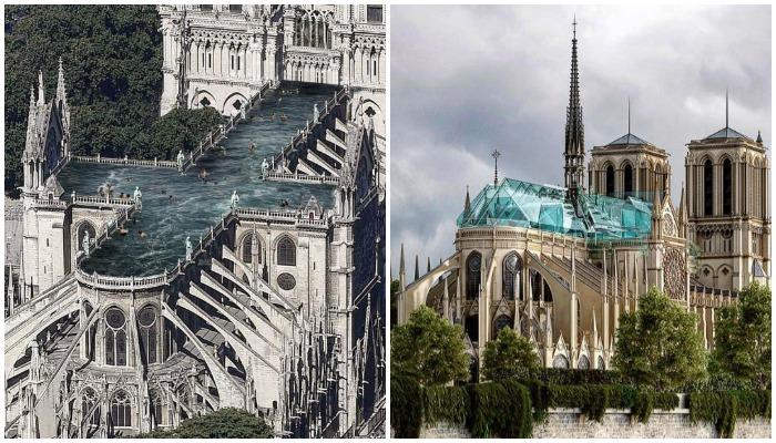 Современная интерпретация восстановления древней святыни (Notre-Dame de Paris).