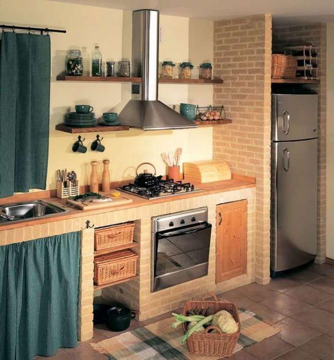 В целях экономии семейного бюджета можно заморочиться и на создании подобного кухонного гарнитура.   Фото: pinterest.com.