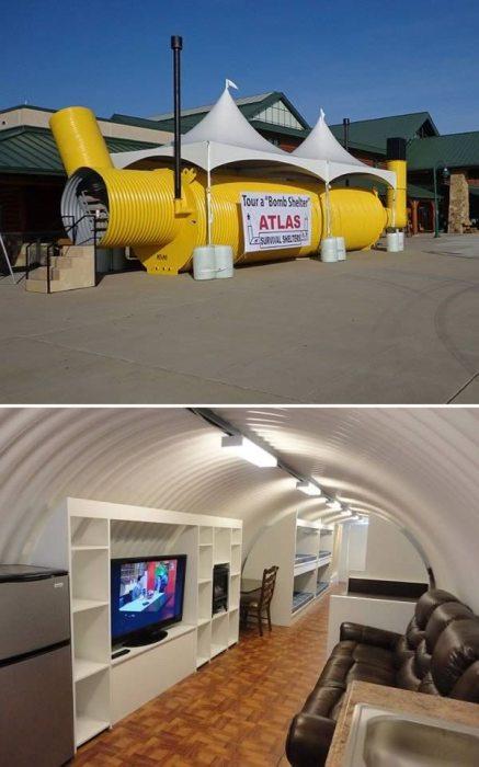 Американская компания Atlas Survival Sheltersar активно продает бюджетный антиядерный бункер. | Фото: org.ua.
