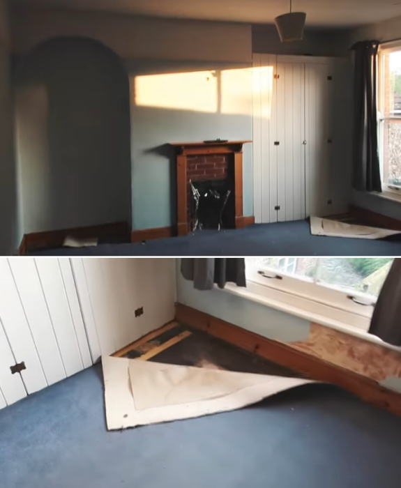 Так выглядела комната, которую требовалось привести в порядок в кратчайшие сроки и своими  силами. | Фото: youtube.com/ LLimWalker.