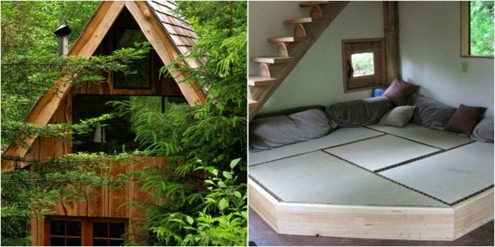 Уютный деревянный домик в японском стиле стал прекрасным местом для отдыха (США). | Фото: navolne.life.