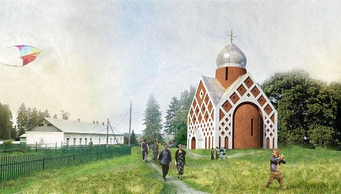 Проект подворья Валаамского монастыря на Левашовском кладбище. | Фото: bigpicture.ru.