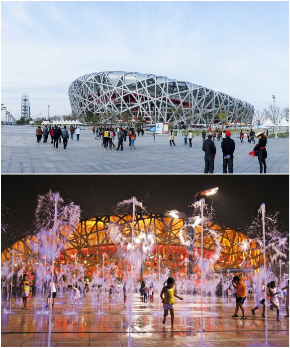 Национальный стадион «Птичье гнездо» стал главной достопримечательностью Пекина. | Фото: incomartour.com.ua/ pinterest.cl.