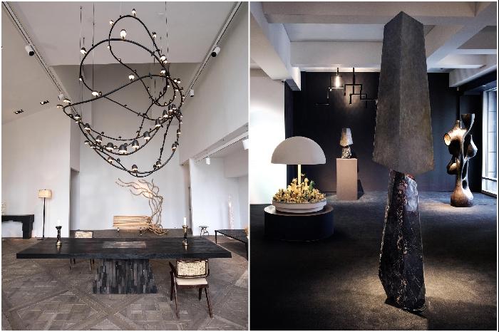 Элементы инсталляции «Art Light» проходящей в 2017 г. в Нью-Йорке (Carpenters Workshop Gallery). | Фото: trendland.com/ dezeen.com.
