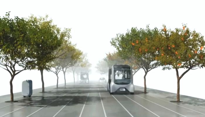 Весь транспорт будет беспилотным, и работать на водороде (концепт «Woven City»). | Фото: youtube.com/ © CNET Highlights.