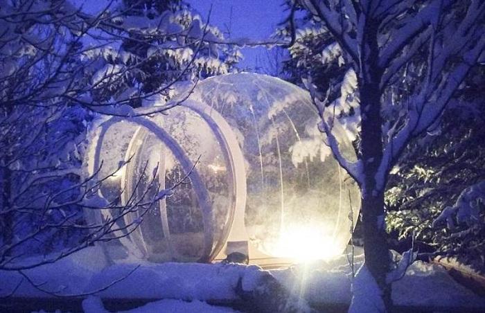 Даже суровые зимние вечера в прозрачном номере будут восхитительны (The 5 Million Star, Исландия).