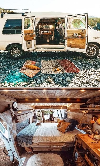 Даже маленькие размеры фургоны позволяют сделать жизнь комфортной. | Фото: tutkatamka.com.ua.