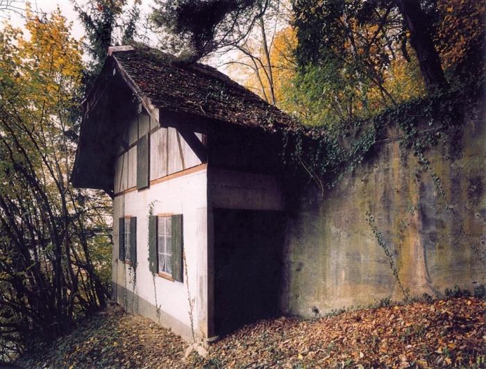 Чаще всего шале было очень узким, но это можно заметить только под определенным углом с близкого расстояния (Fake Chalets, Швейцария). | Фото: dymontiger.livejournal.com.