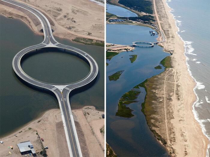 Строительство моста обошлось в 12 млн дол. (Laguna Garzon Bridge, Уругвай). | Фото: interestingengineering.com.