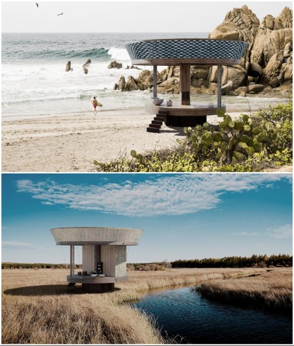 Минималистичный домик станет идеальным местом отдыха (концепт Casa Ojala').