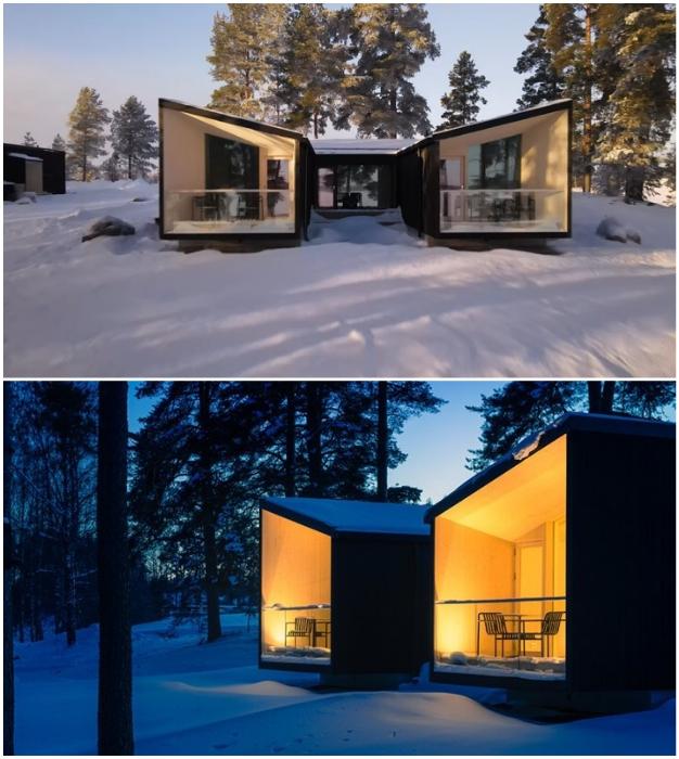 В каждом номере есть собственная открытая терраса с зоной отдыха (Uni Villas, Финляндия).