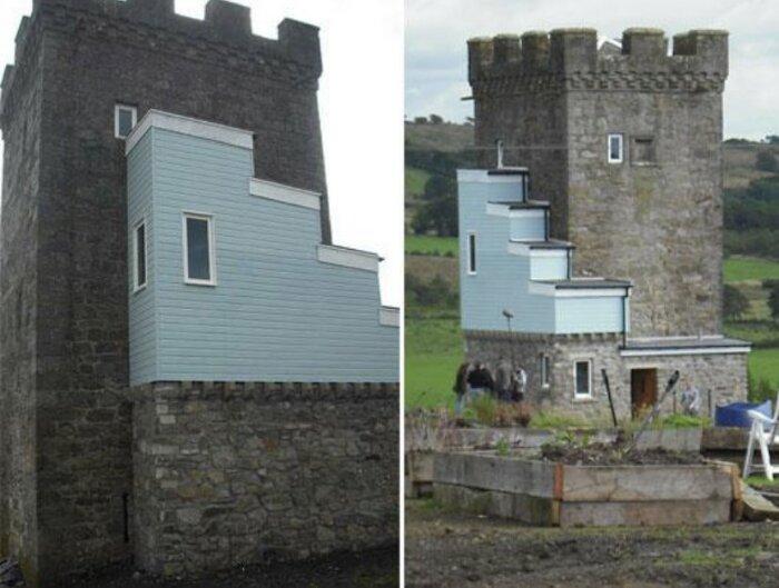 Вот такую реконструкцию провел новый владелец (Caldwell Tower, Folly).