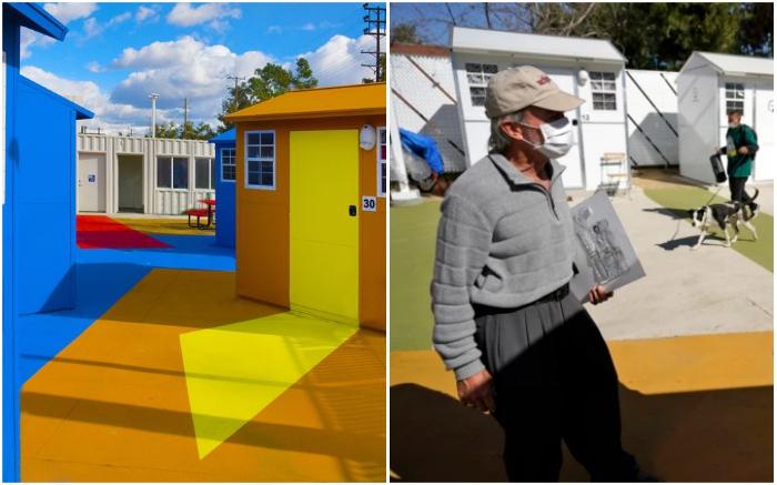 Если жизнь потеряла цвет можно раскрасить ее самостоятельно! (Alexandria Park Tiny Home Village, США).