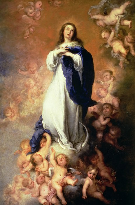 Кто не восторгался красотой Девы Марии, изображенной барочным художником Бартоломе Эстебана Мурильо на картине «Непорочное зачатие»? | Фото: gallerix.ru.