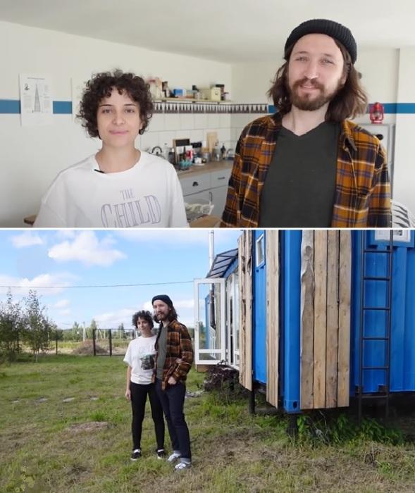 Ксения и Николай спроектировали и самостоятельно оформили интерьер контейнерного дома.