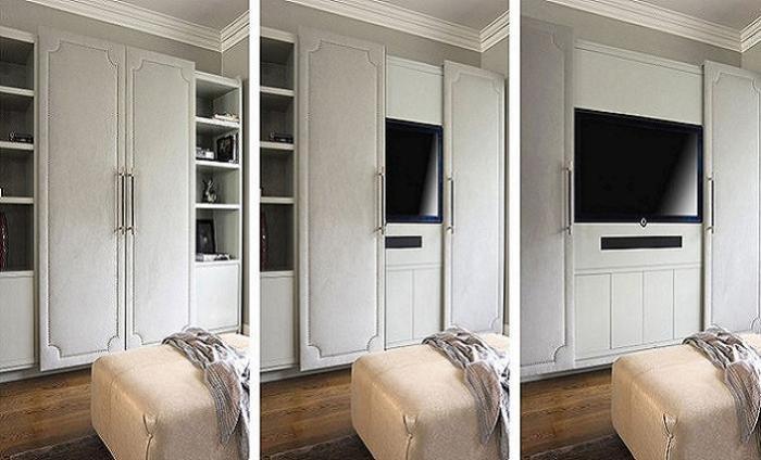 Телевизор можно спрятать и так.