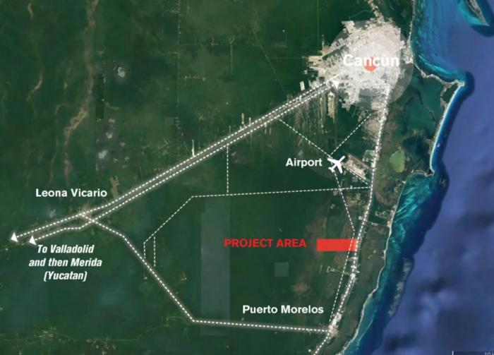 В природной зоне, неподалеку города Канкун, планируют построить энергонезависимый город. | Фото: designboom.com.