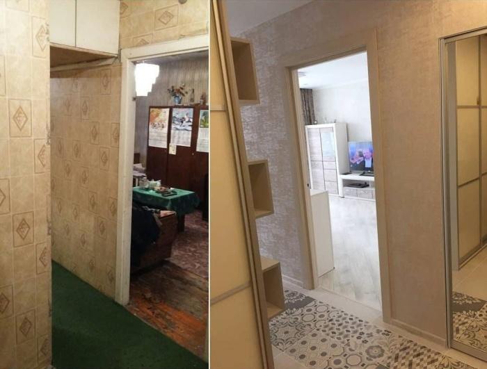 Даже в таком состоянии узкий коридор можно преобразить до неузнаваемости. | Фото: facebook.com/ © Comfort Stroy.