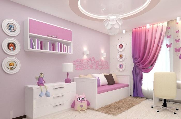 Цветовая гамма комнаты с учетом пожелания ребенка.