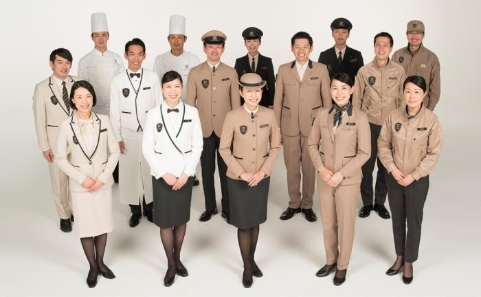 Над униформой персонала поработали специалисты, возглавляемые творческим директором Naoki Takizawa (Train Suite Shiki-shima). | Фото: visitjapan.ru.