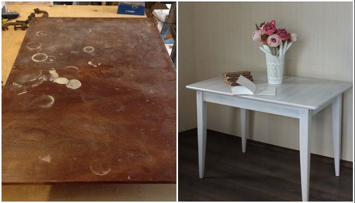 Удачная реконструкция обеденного стола.