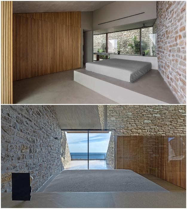 Из всех спальных комнат открывается превосходный вид на Эгейское море (Ncaved House, о-в Серифос).