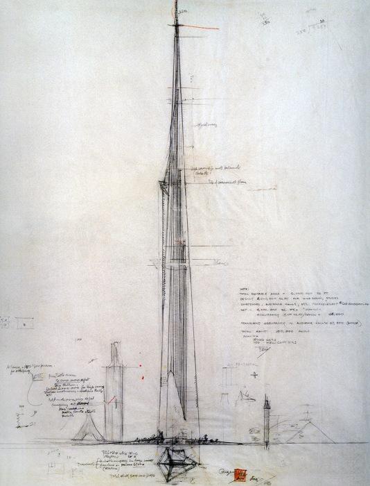Высотка «Небесный город Иллинойс» так и осталась проектом. | Фото: architime.ru.