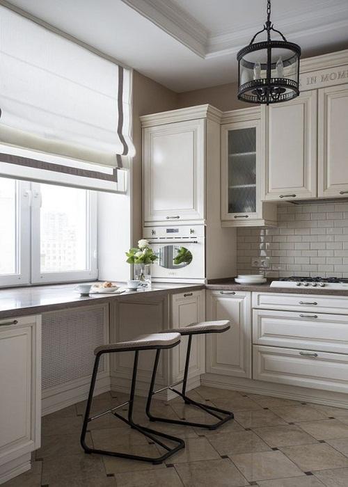 Организация пространства на маленькой кухне.