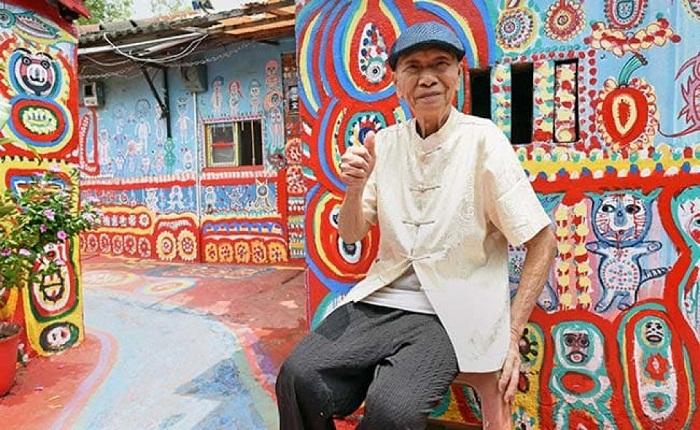 Хуань Юнь Фу (Huang Yung-Fu) – создатель самой необычной деревни на Тайване (Rainbow Village).