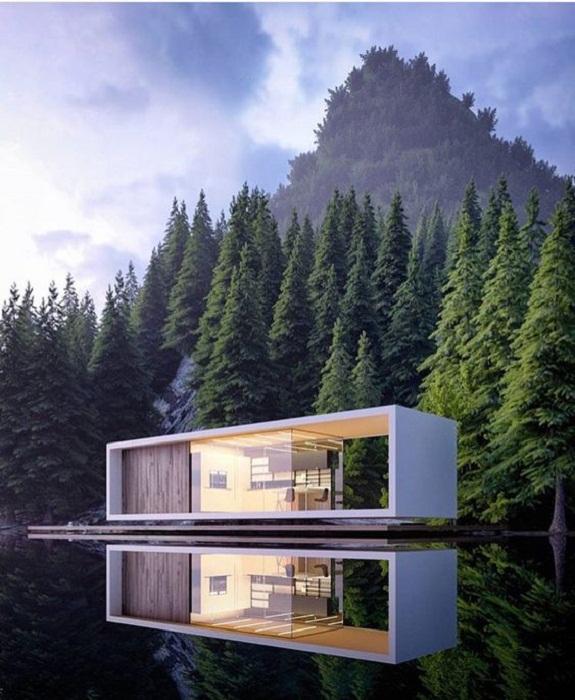 Современные плавучие дома оснащены автономными энергетическими и коммуникационными системами. | Фото: pinterest.com.